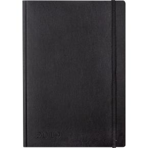 Mayland A5 Notes, uge, tværformat, sort