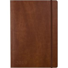 Mayland A5 Notes, uge, tværformat, brun