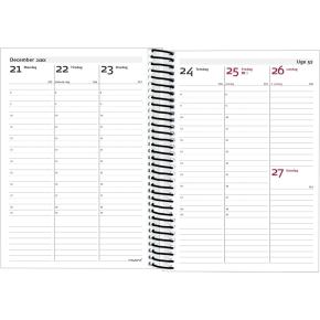 Mayland ECO line, uge, A6, højf, fiberpap, sort