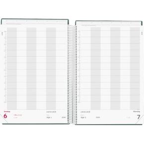 Mayland A4 Aftalekalender 2019, dag, sort