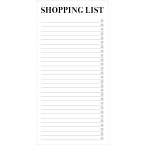 Mayland Shoppingliste, 100 x 200 mm, grå
