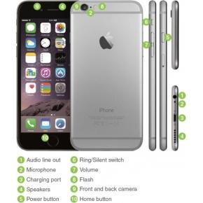 Brugt Apple iPhone 6, 64GB spacegrey (B)