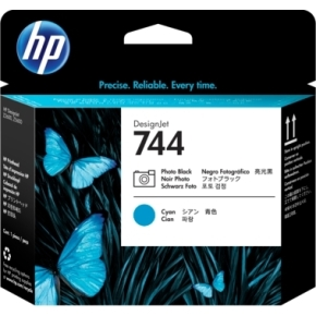 HP No744 Foto sort & Cyan DesignJet printhoved