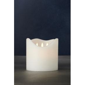 Sara Exclusive LED lys, Hvid, H 15 x Ø 15 cm
