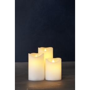 Sara Exclusive LED lys, Creme, H 15 x Ø 15 cm