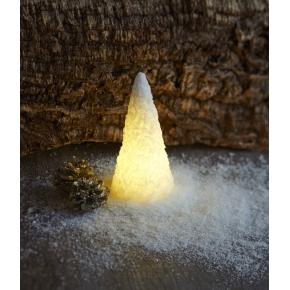 Sne kegle LED lys, 2 stk., Hvid, Ø 7,5 x H 15 cm