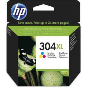 HP No304XL blækpatron blister, tri-farve, 300s