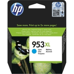 HP No953XL blækpatron blister, cyan, 1.600s
