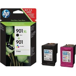 HP No901XL/No901 Sort + farve, sampak