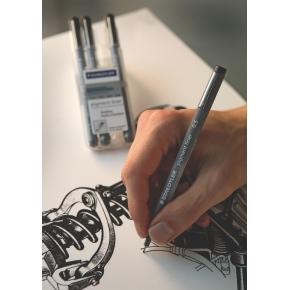Staedtler Pigment Liner 308 Fiberpen 0,3 mm, sort
