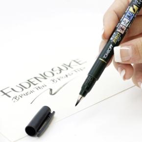 Tombow Fudenosuke Blød Pensel Pen, sort