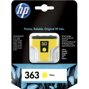 HP No363 blækpatron, blister, gul, 500s