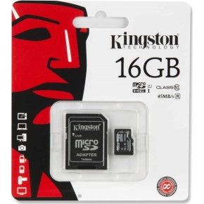 Kingston MicroSDHC hukom. kort, 16GB
