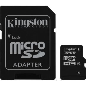 Kingston MicroSDHC hukom. kort, 32GB