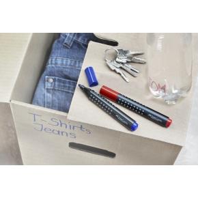 Faber-Castell Grip Marker, rund spids, blå