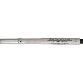 Faber-Castell Ecco Pigment Finepen 0,6 mm, sort