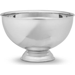 Champagnebowle i blank stål Ø38 cm