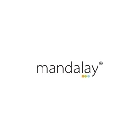 Mandalay sammenklappelig skammel i sort