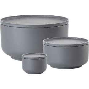 Zone Peili skålesæt, 3 stk, cool grey