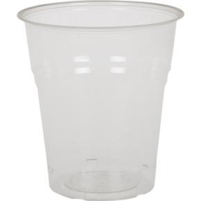 Komposterbart drikkeglas, klar, 18 cl