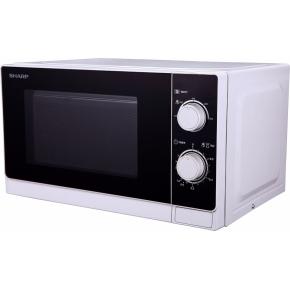 Sharp R200WW Mikrobølgeovn, 800W, hvid