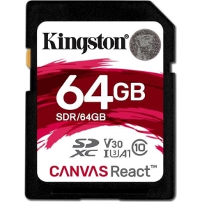 KINGSTON Canvas React 64GB SDXC hukom.kort