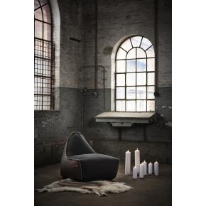 RETROit Canvas sækkestol uden håndtag, Brun/Lime