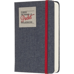 Moleskine Dagskalender 2019 Hard Pocket denim sort