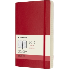 Moleskine Dagskalender 2019 Soft Large, rød