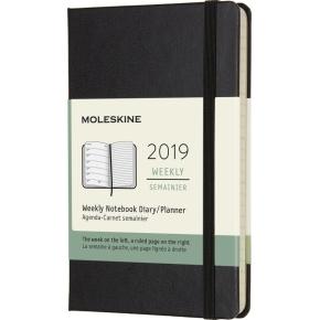 Moleskine Ugekalender 2019 Hard Pocket, sort