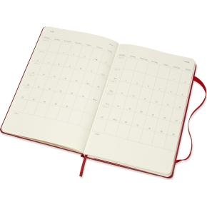 Moleskine Ugekalender 2019 Hard Large, rød
