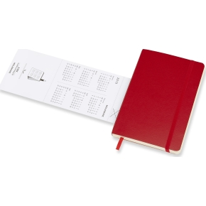 Moleskine Ugekalender 2019 Soft Pocket, rød