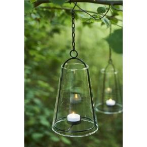 Albert lanterne, Klar, Ø 12,5 cm, 1 LED