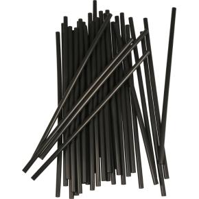 Sugerør, sort, 25 cm