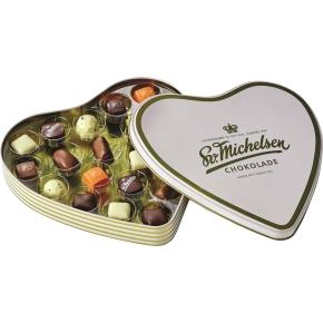 Sv. Michelsen hjerteæske, 20 stk. dessertchokolade