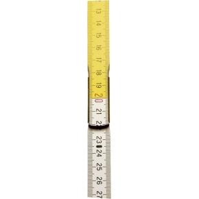 Stanley tommestok, 2 m, træ/gul