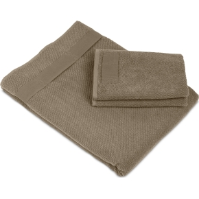 4 stk. håndklæder fra The Organic Company, brun