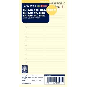 Filofax Refill Personal Dag/Side, 2019