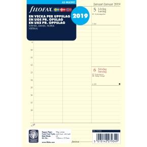 Filofax Refill A5 Uge/Opslag Vertikal, 2019