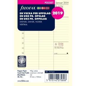 Filofax Refill Pocket Uge/Opslag Vertikal, 2019