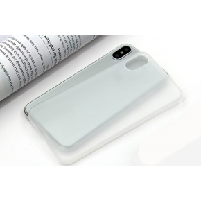 Twincase iPhone Xs case, transparent hvid