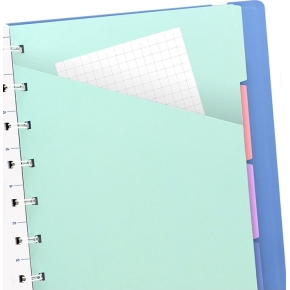 Filofax Notesbog Byg-Selv A5, blå