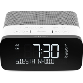PUR Clockradio med FM/DAB/DAB+, grå
