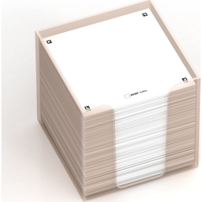 Oxford Sticky Notes Cube 90x90, hvid