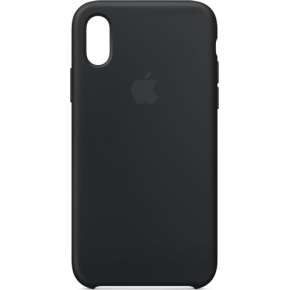 Apple cover til iPhone Xs i silicone, sort