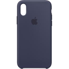 Apple cover til iPhone Xs i silicone, midnatsblå