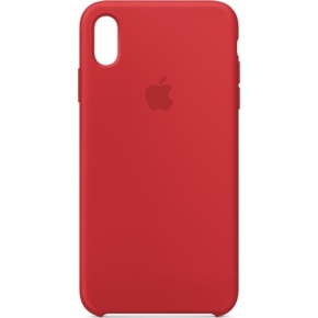 Apple cover til iPhone Xs Max i silikone, rød