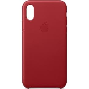 Apple cover til iPhone Xs i læder, rød