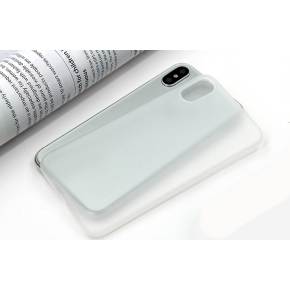 Twincase iPhone Xs Max case, transparent hvid