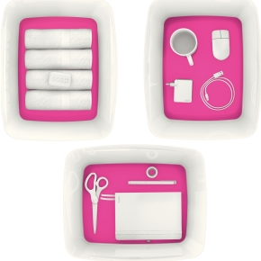 Leitz MyBox Opbevaringsboks Large, hvid/pink